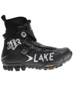 Lake MXZ303 Wide Bike Shoes Black/Silver