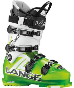 Lange RX 130 Ski Boots Lime/White