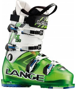 Lange RX 130 Ski Boots Translucent Lime/White