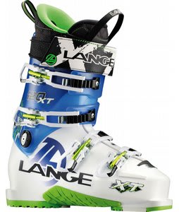 Lange XT 120 Ski Boots White/Translucent Blue