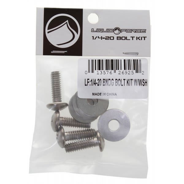 Liquid Force 1/4-20 Binding Bolt Kit w/ Washers Wakeboard Accessories