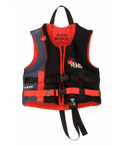 Liquid Force Hinge CGA Wakeboard Vest Black/Red Child