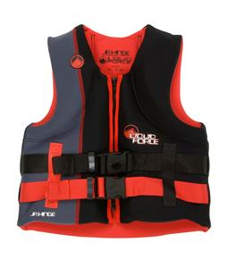 Liquid Force Hinge CGA Wakeboard Vest Black/Red Teen