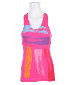 Liquid Force Painted Stripe Tank Top Fuschia