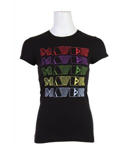 Liquid Force Rainbow Maven T-Shirt Black