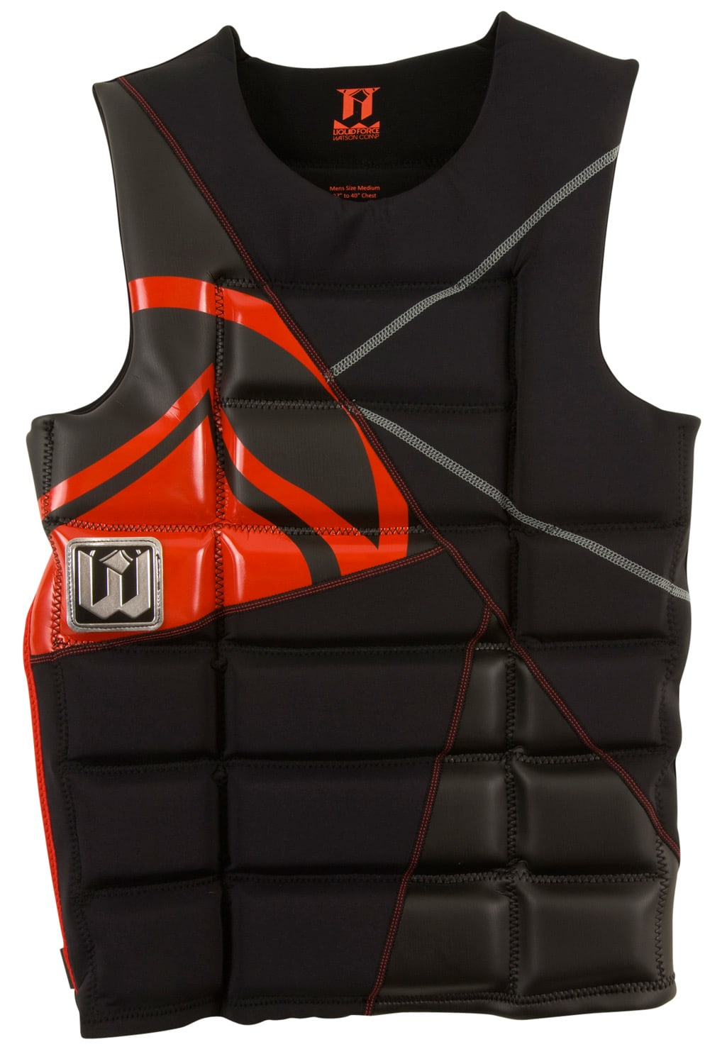 Liquid Force Watson Comp Wakeboard Vest Black/Red - Men's