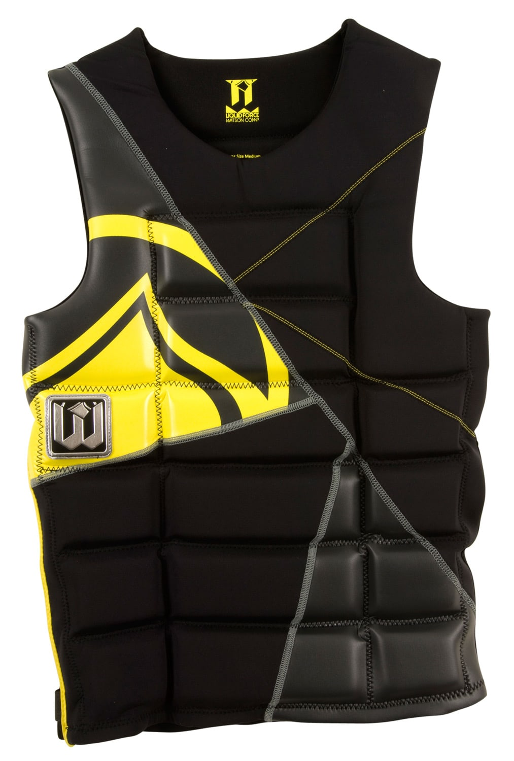 Liquid Force Watson Comp Wakeboard Vest Black/Yellow - Men's