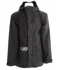 Lib Tech Re-Cycler Snowboard Jacket Black Quigg Print