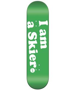Line I Am A Skier Skateboard Deck