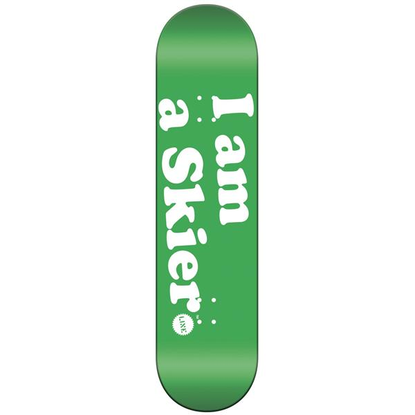Line I Am A Skier Skateboard Deck