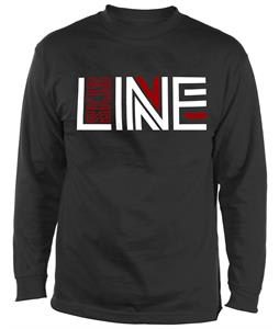 Line Logo Wicking L/S Baselayer Top Black