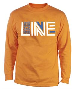 Line Logo Wicking L/S Baselayer Top Orange