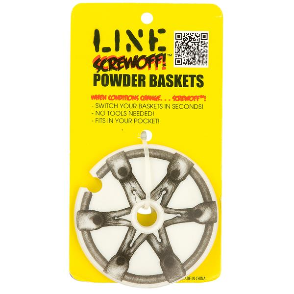 Line Screwoff Powder Ski Pole Basket-1 Pair