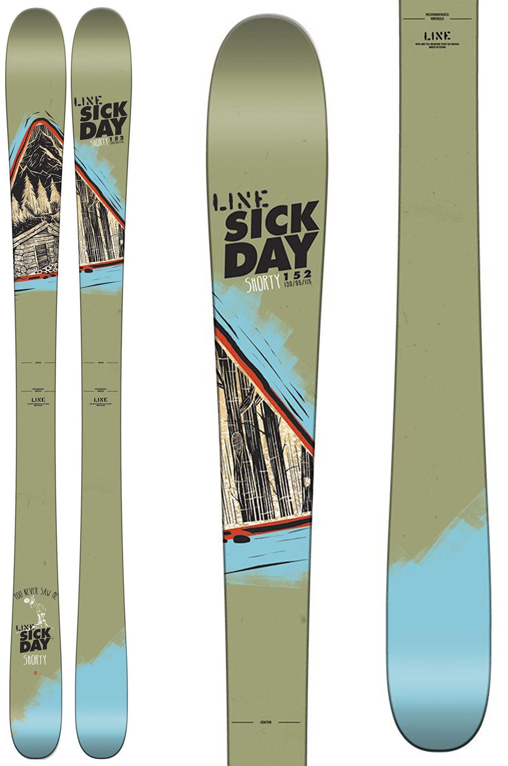 Line Sick Day Shorty Skis Kids Youth