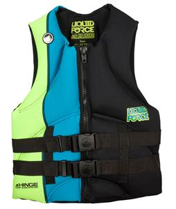 Liquid Force Jr. Hinge Wakeboard Vest Black/Blue Teen