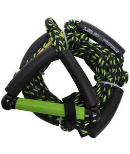 Liquid Force Surf Line 9in Handle Wakesurf Rope Green 24Ft