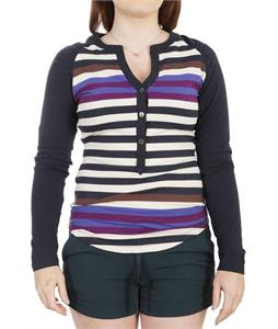 Lole Theory Henley Shirt Spectrum/Eclipse Stripe