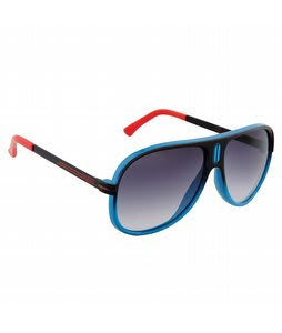 Neff Malibu Sunglasses Cyan/Red Lens