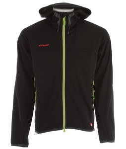 Mammut Ultimate Hoody Softshell Ski Jacket Black/Basilic