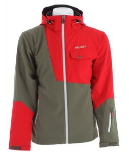 Marmot Erial Ski Jacket Olive Night/Team Red