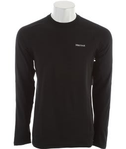 Marmot Midweight Crew L/S Baselayer Top Black