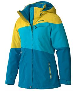 Marmot Moonshoot Ski Jacket Aqua Blue/Yellow Vapor