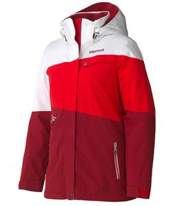 Marmot Moonshoot Ski Jacket Dark Crimson/White