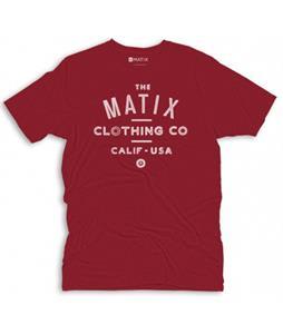 Matix Crew T-Shirt Cardinal