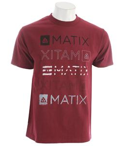 Matix Faded T-Shirt Burgundy