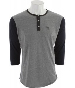 Matix Monostack 3/4 Henley Tri Charcoal