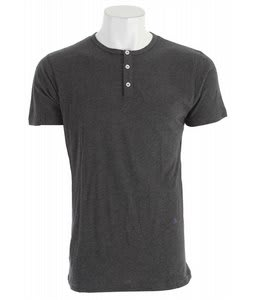 Matix Solid Henley T-Shirt Heather Charcoal