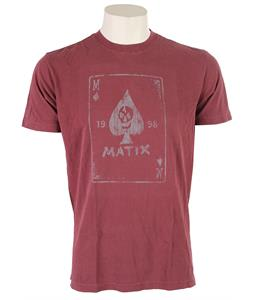 Matix The Card T-Shirt Merlot