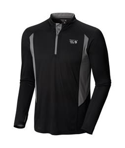 Mountain Hardwear Double Wicked L/S Zip Shirt Black