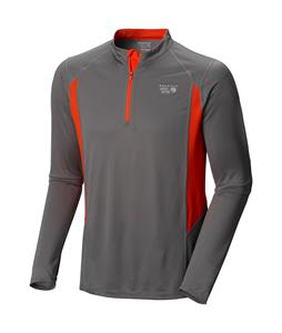 Mountain Hardwear Double Wicked L/S Zip Shirt Titanium