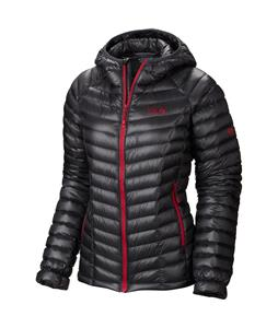Mountain Hardwear Ghost Whisperer Down Hooded Snowboard Jacket Graphite/Bright Rose