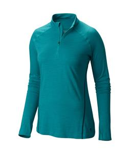 Mountain Hardwear Integral Pro L/S Zip Baselayer Top Mayan Green
