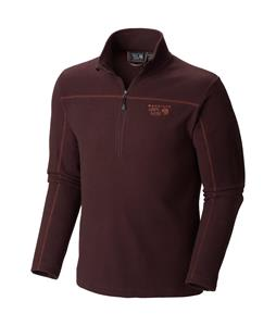 Mountain Hardwear Microchill Zip T Performance Shirt New Cinder