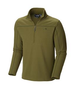 Mountain Hardwear Microchill Zip T Performance Shirt Utility Green
