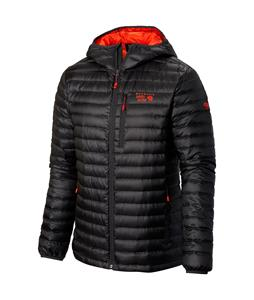 Mountain Hardwear Nitrous Hooded Down Jacket Shark/State Orange