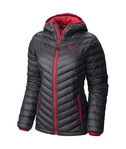 Mountain Hardwear Nitrous Hooded Down Jacket Graphite/Bright Rose