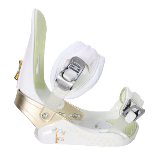 Morrow Lotus Snowboard Bindings White