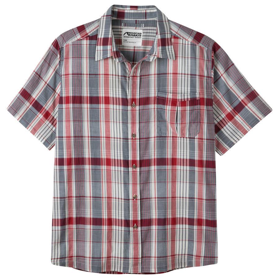 On sale mountain khakis tomahawk madras shirt up to 45 off for Mens madras shirt sale