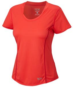 Mountain Hardwear Wicked Lite T-Shirt Red Hibiscus