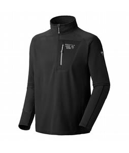 Mountain Hardwear Microstretch Zip T Fleece Hoodie Black/Black