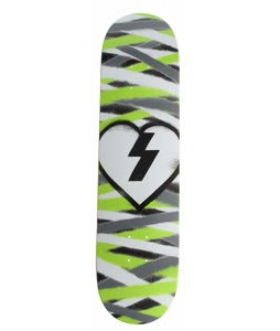 Mystery Diy Brigade Skateboard Deck Green Spray Stripes 7.75