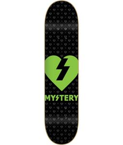 Mystery Green Heart Skateboard Deck