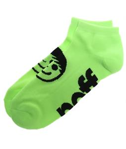 Neff Corpo Ankle Socks Neon Green