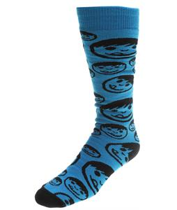Neff Corpo Sucker Snow Socks Cyan