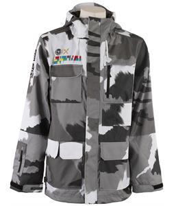 Neff Corporal Snowboard Jacket Splamo Grey