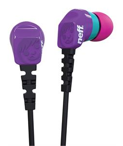 Neff Daily Earbuds Purple/Teal/Pink
